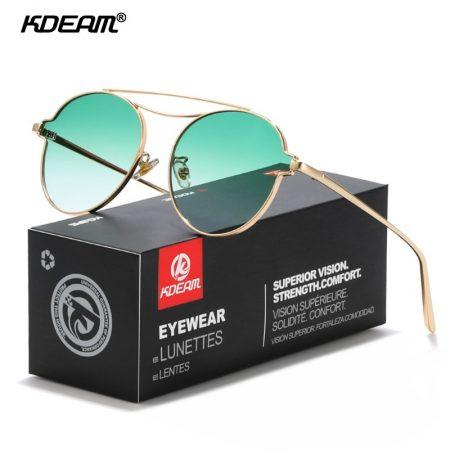 HD gradient round women sunglasses