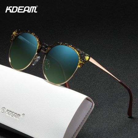 half metal round sunglasses