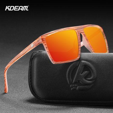 High performance square polarized sunglasses
