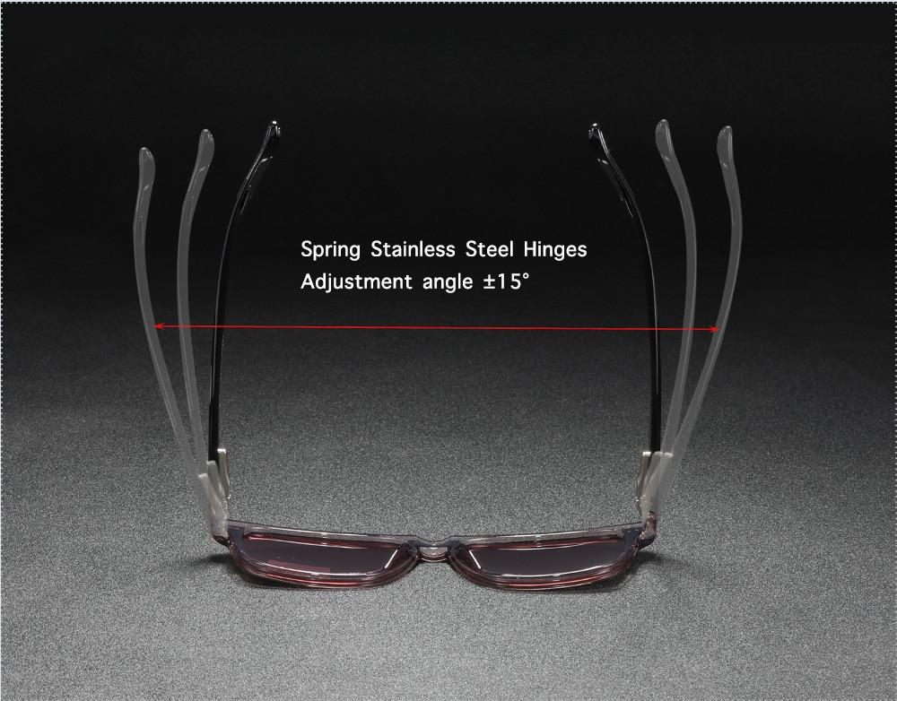 Square Polarized Sunglasses TR90 Material