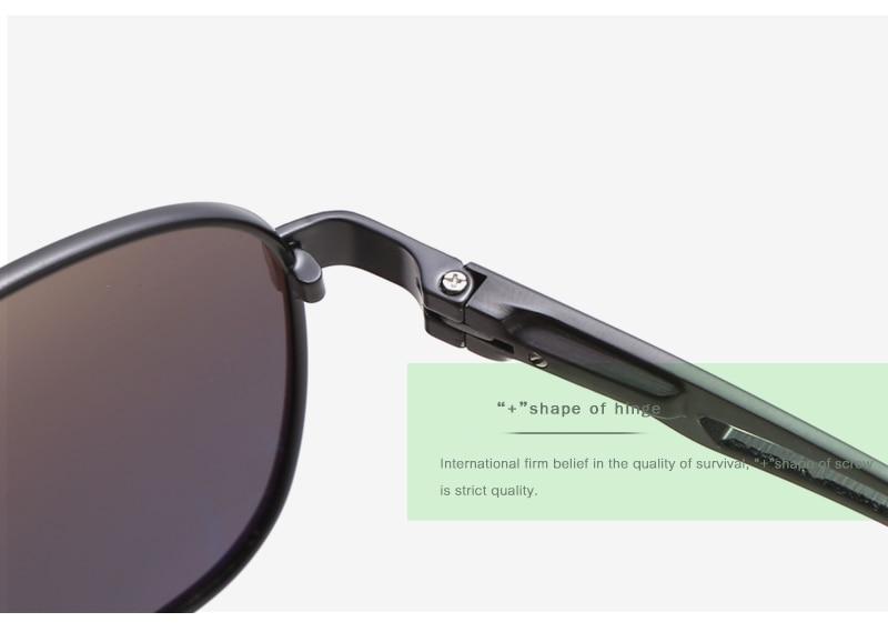 Aluminum Magnesium Men's Pilot Sunglasses Polarized
