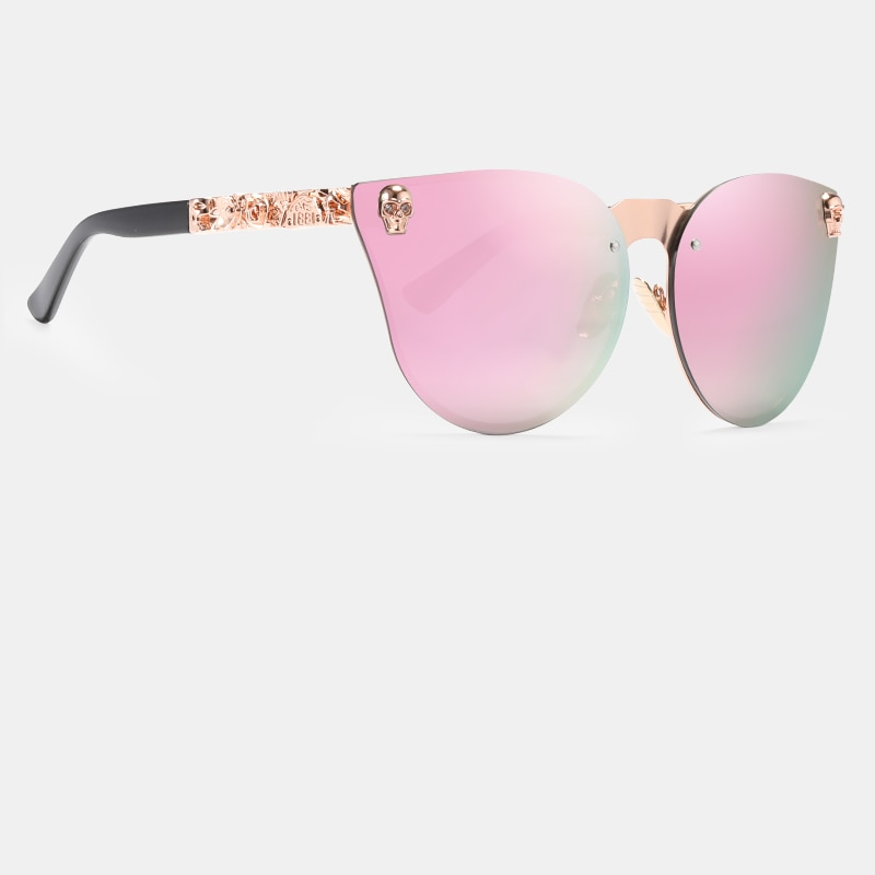 Vintage Skull Cat Eye Sunglasses