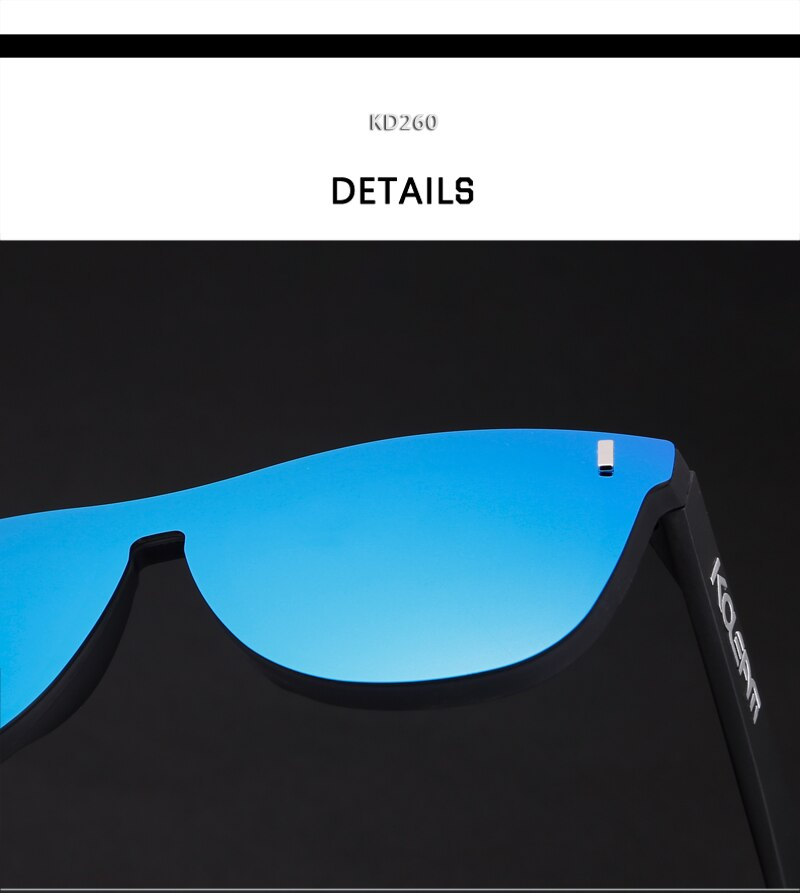 Full Front Design Women Sunglasses Polarized TR90 Frame