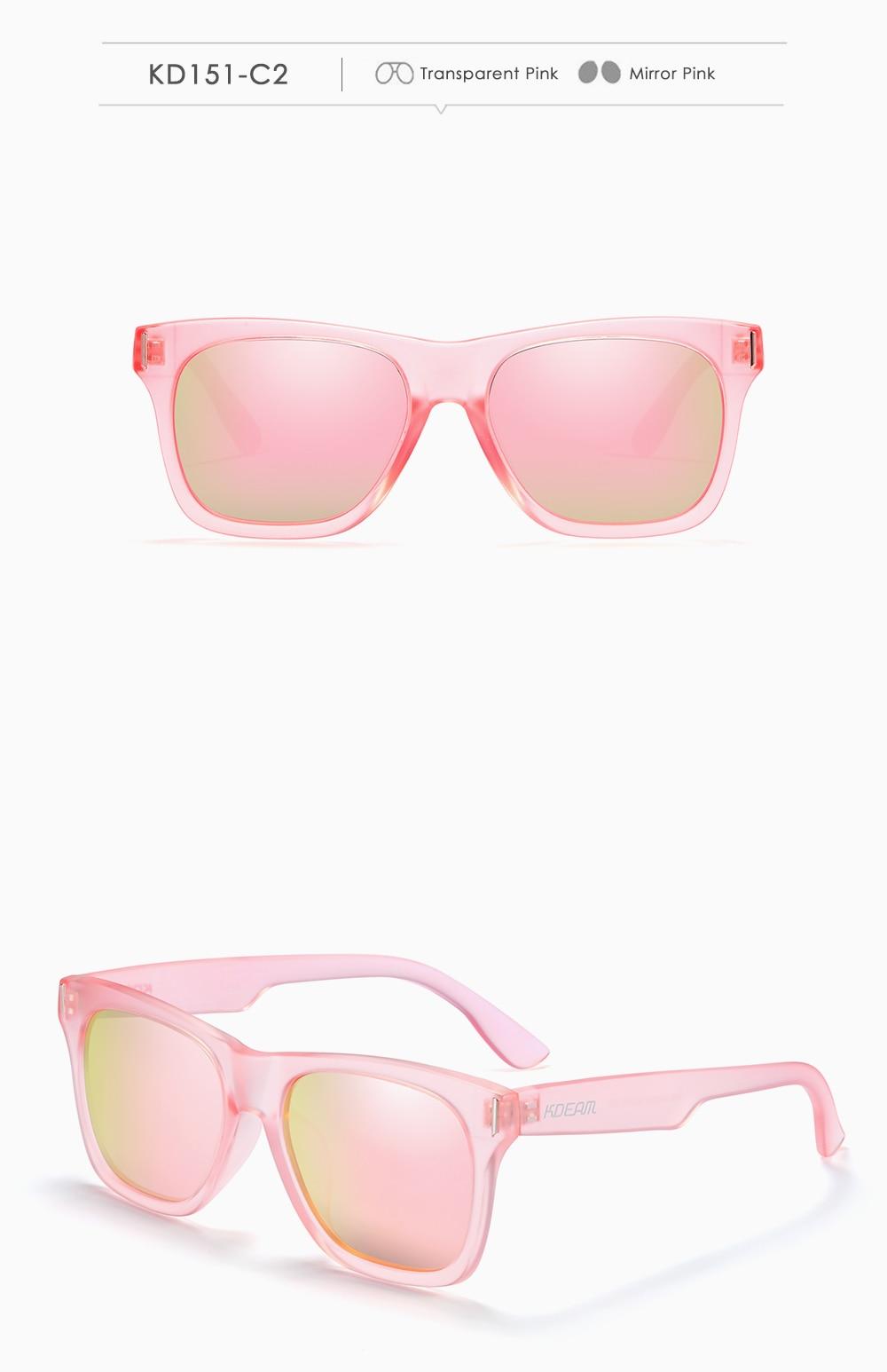 Square Polarized Sunglasses Men Multi Color